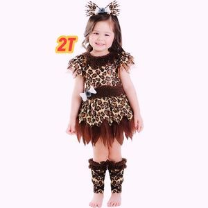 Other - Cave Girl Leopard Print Toddler Girl Costume 2T